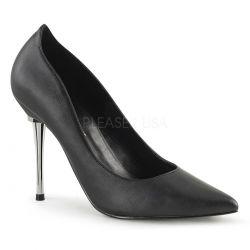 Zapatos Fetish Stiletto polipiel y tacón aguja metálico tallas 35 a 48