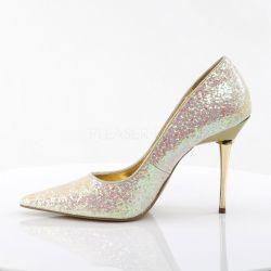 Zapatos Stiletto Fetish con purpurina y tacón metálico tallas 35 a 48