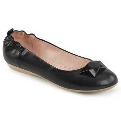 Zapatos bajos bailarinas linea Pin Up polipiel con detalle geométrico