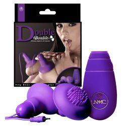 Succionador de pezones y estimulador de clitoris con vibración