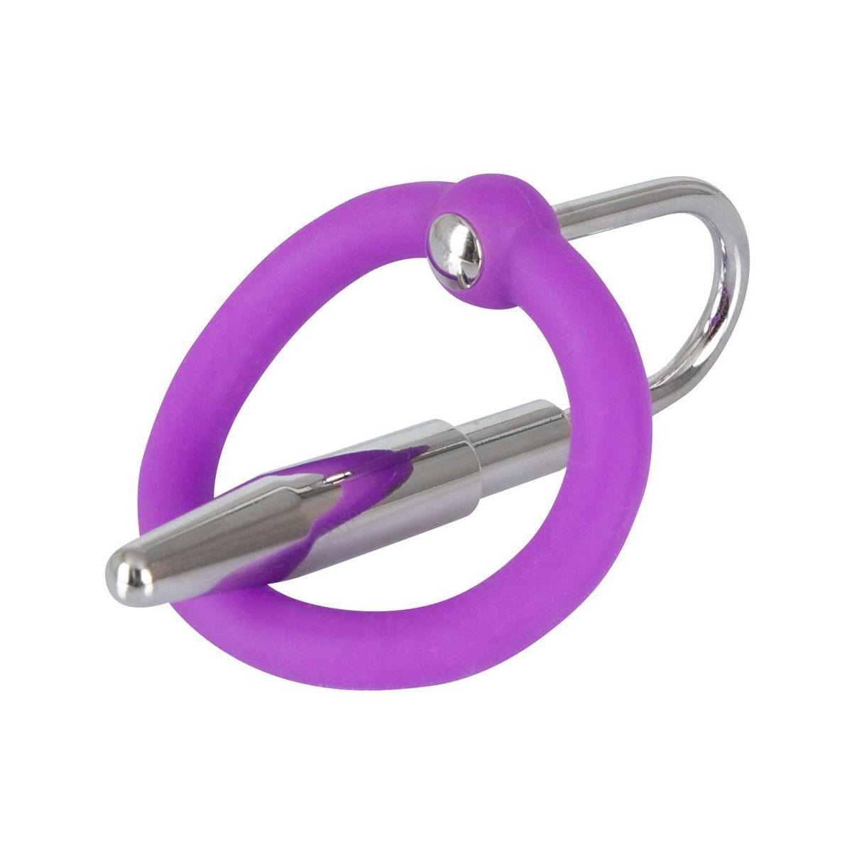 Sofisticado anillo para el glande y dilatador de uretra incluido
