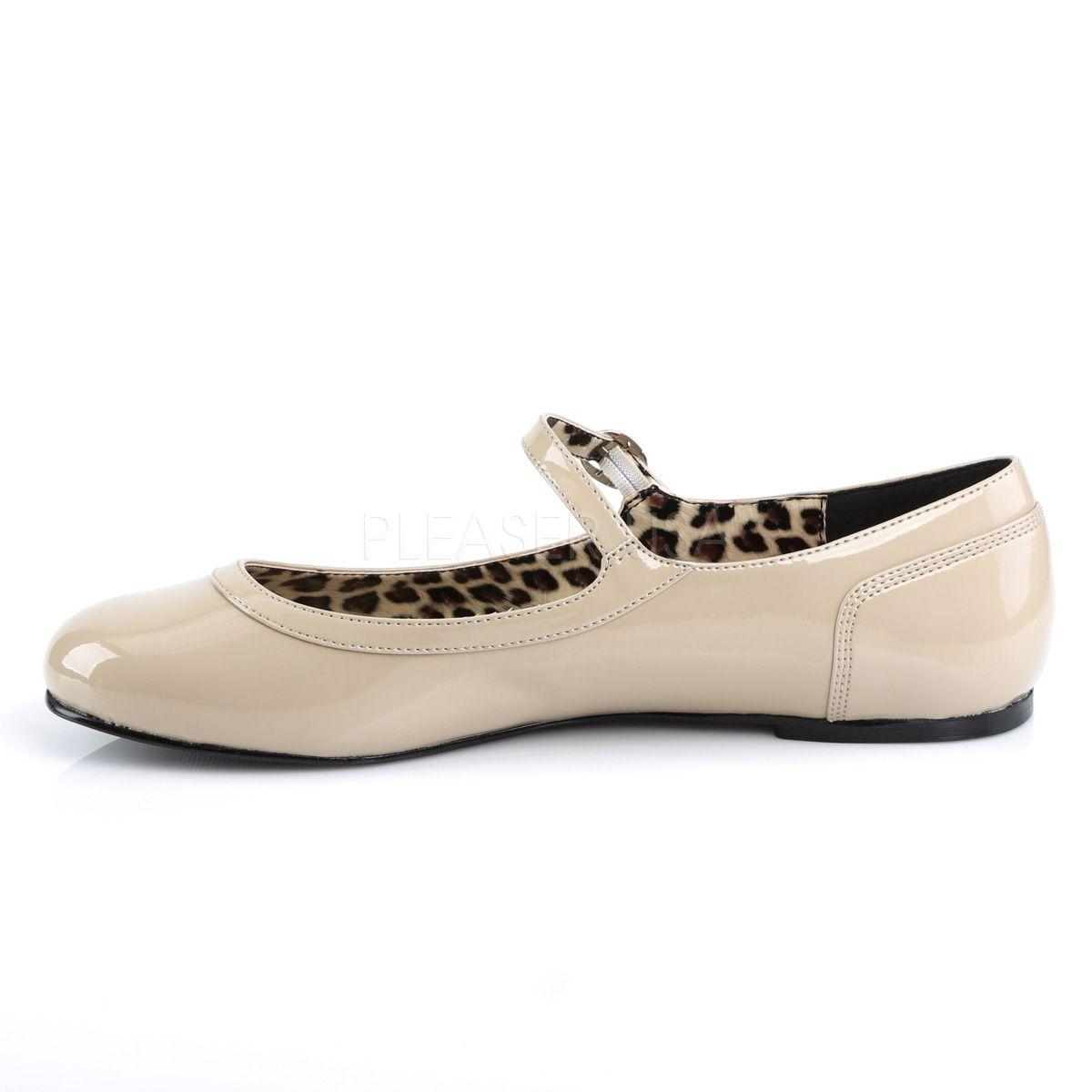f16a1a95 Merceditas zapatos bajos de charol con correa tallas grandes 40 a 48