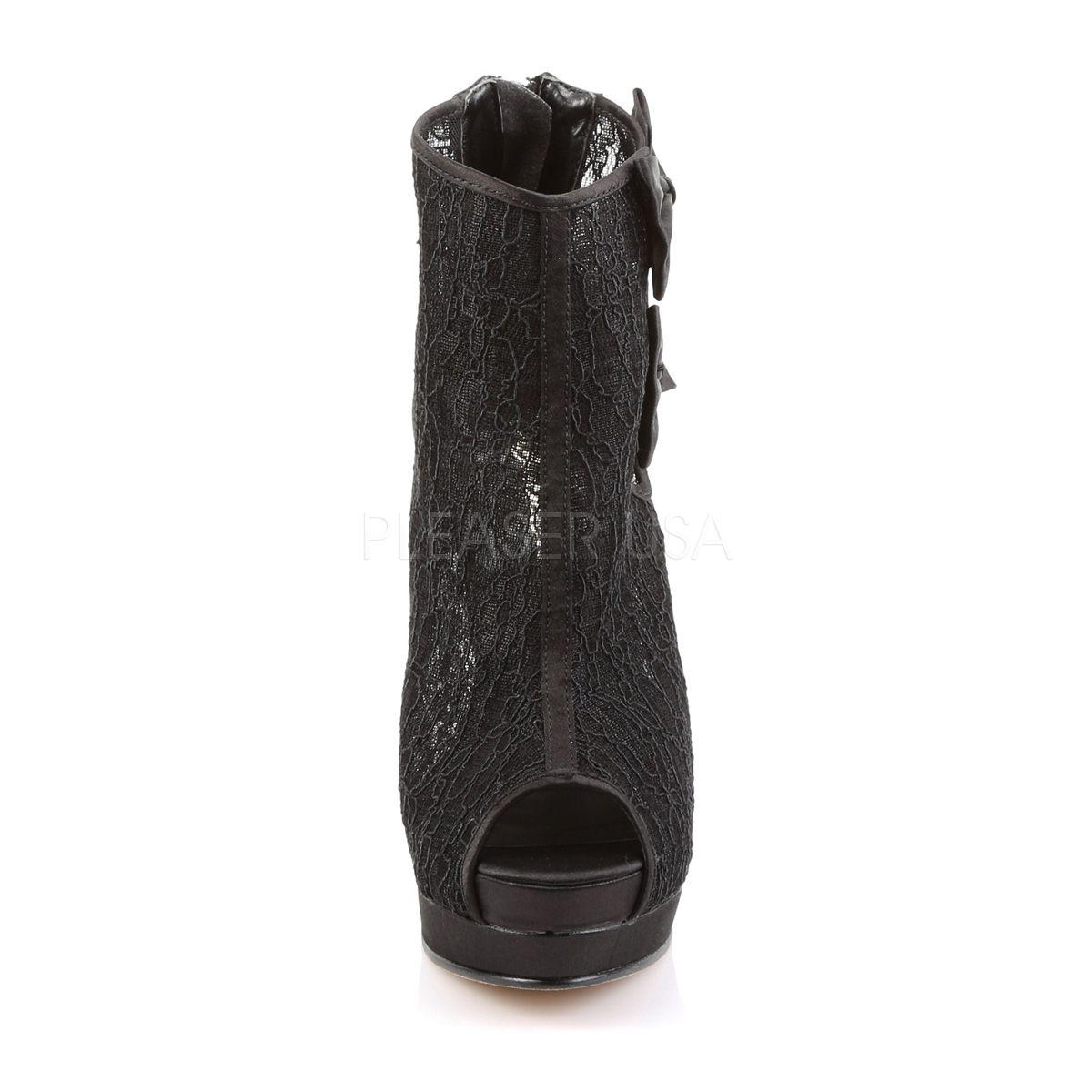 Elegante botines de plataforma con encaje y lazo coqueto