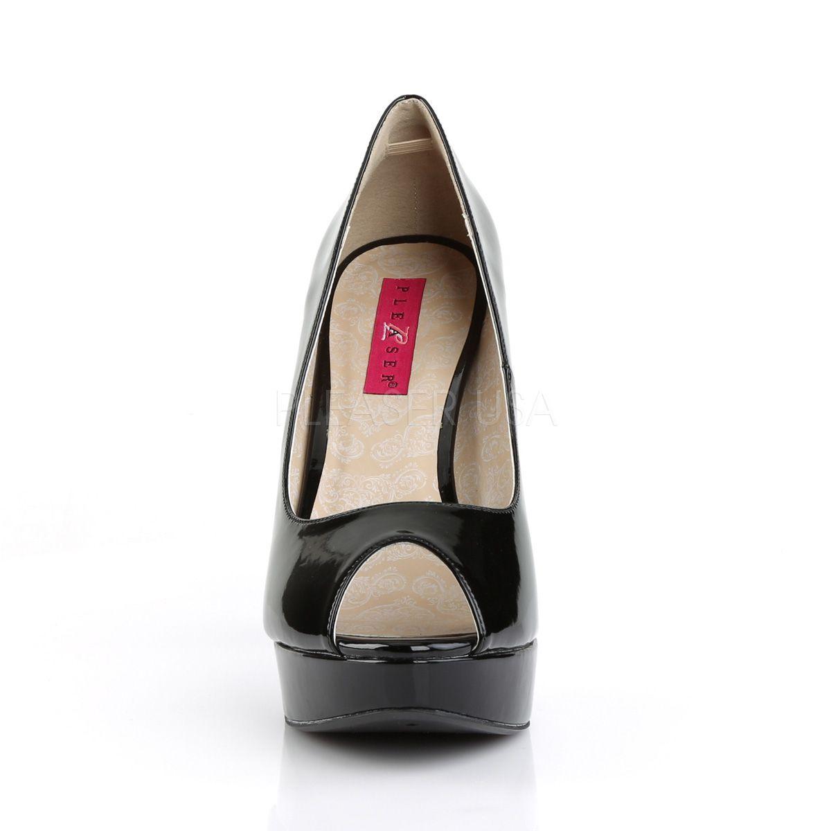 Zapatos de charol en tallas grandes de 40 a 48 con plataforma Peep Toe