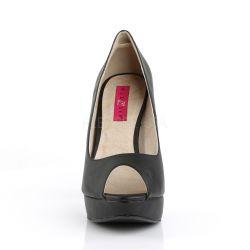 Zapatos de polipiel tallas grandes de 40 a 48 con plataforma Peep Toe