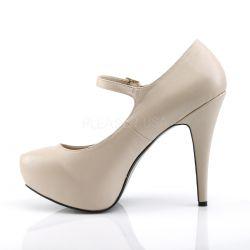 Zapatos de polipiel con plataforma y correa tallas grandes de 40 a 48