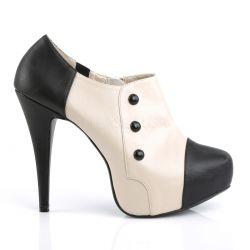 Zapatos estilo botines con plataforma y abotonados tallas de 40 a 48