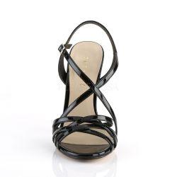 Sandalias de charol con multiples tiras cruzadas desde talla 35 hasta 46