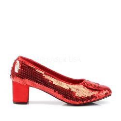 Zapato estilo colegiala lentejuelas