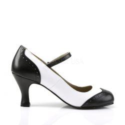 Zapatos de fantasía en dos tonos de estilo clásico con correa