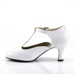 Zapatos de fantasía clásicos de estilo Kitten en cuero sintético