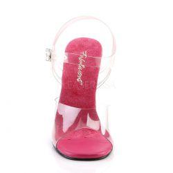 Sandalias para competiciónes de fitness sin plataforma y tacón 11 cm