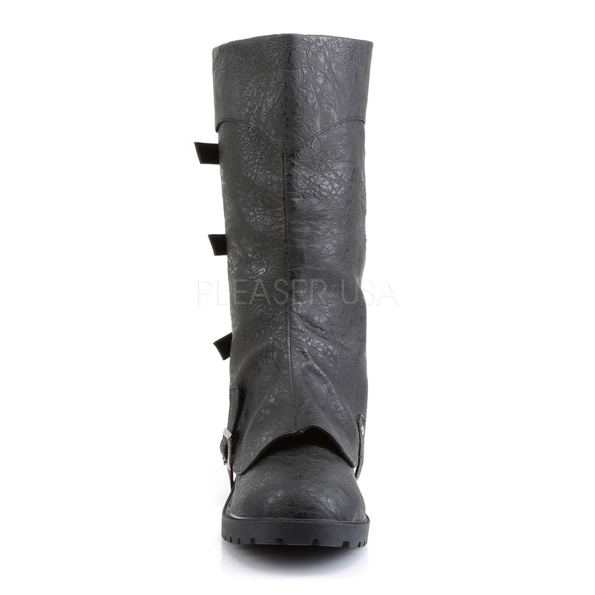 Botas de hombre disfraz pirata en cuero sintético con caña desmontable