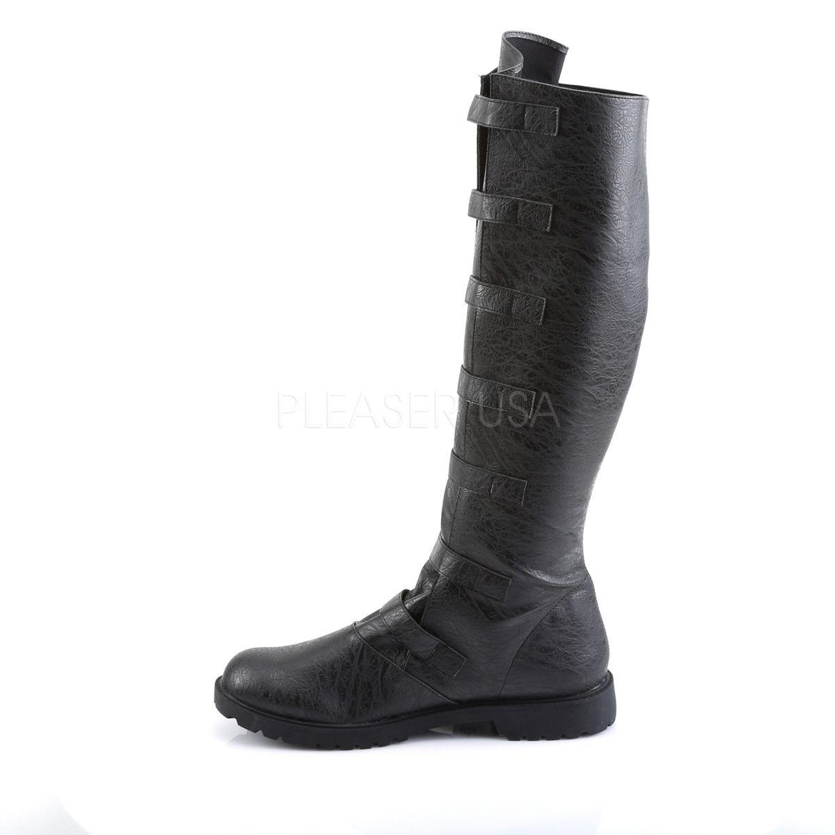 Botas de hombre para disfraz en cuero sintético con correas y hebillas