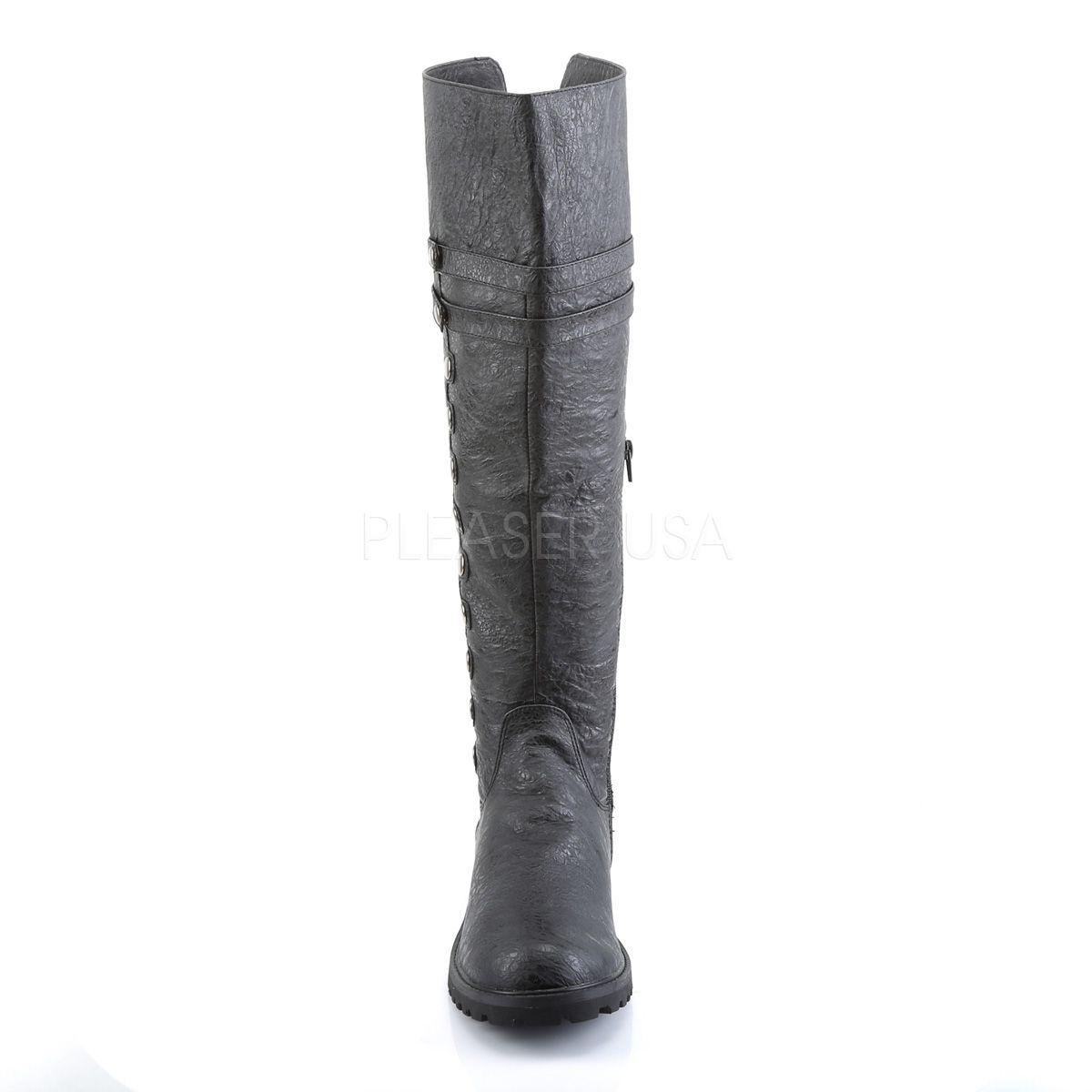 Botas de hombre para disfraz en cuero sintético abotonadas y con la caña plegada