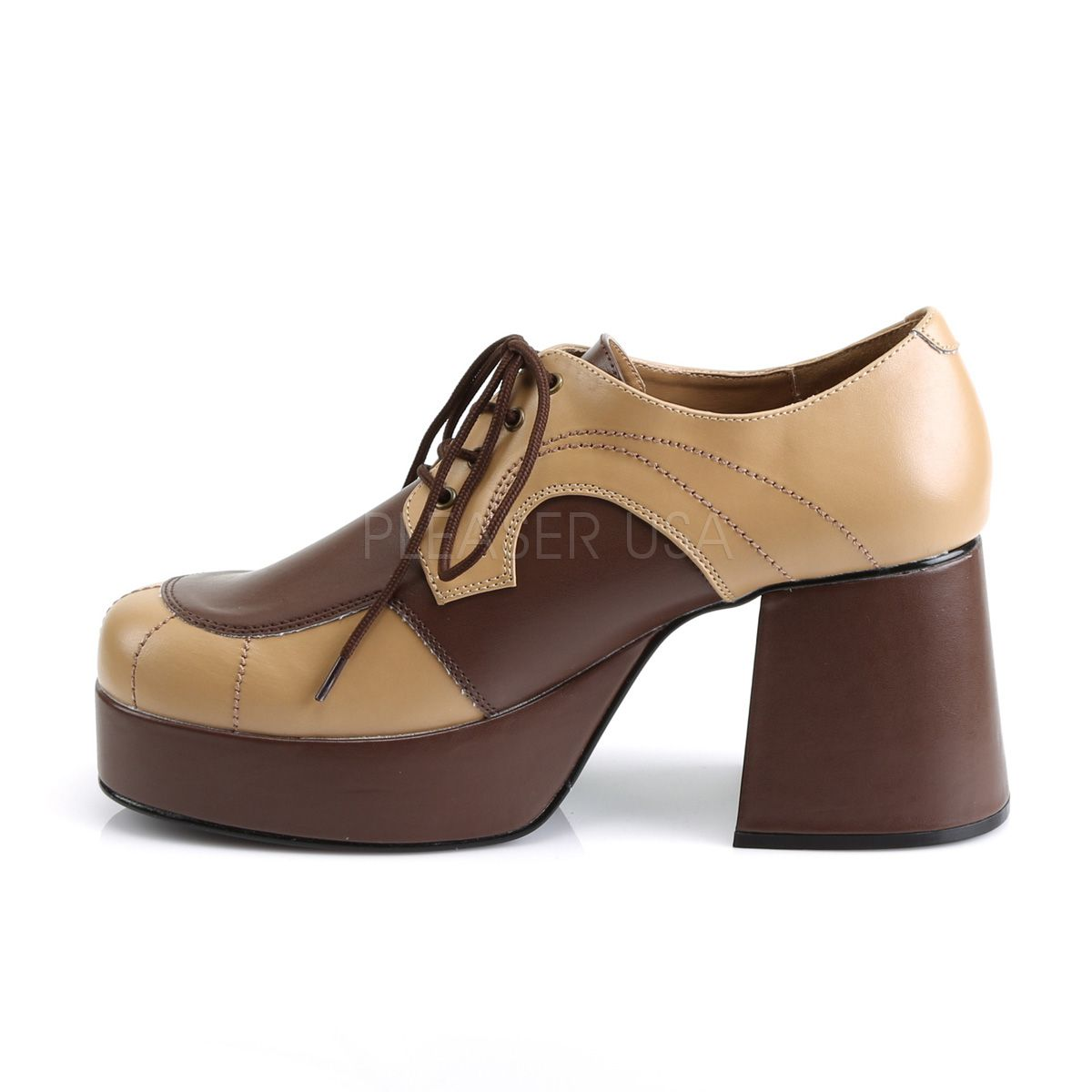 Zapato de plataforma para hombre de estilo jazz vintage en dos tonos