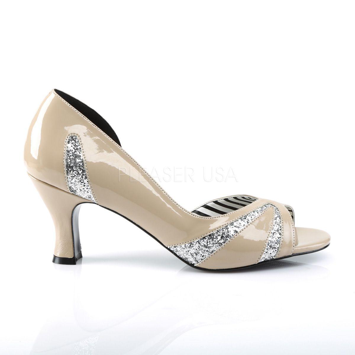 Zapatos en tallas grandes de 40 a 48 con inserciones de purpurina