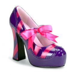 Zapato plataforma disfraz rayas