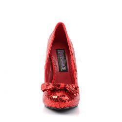 Zapatos de salón de corte clásico recubierto de lentejuelas