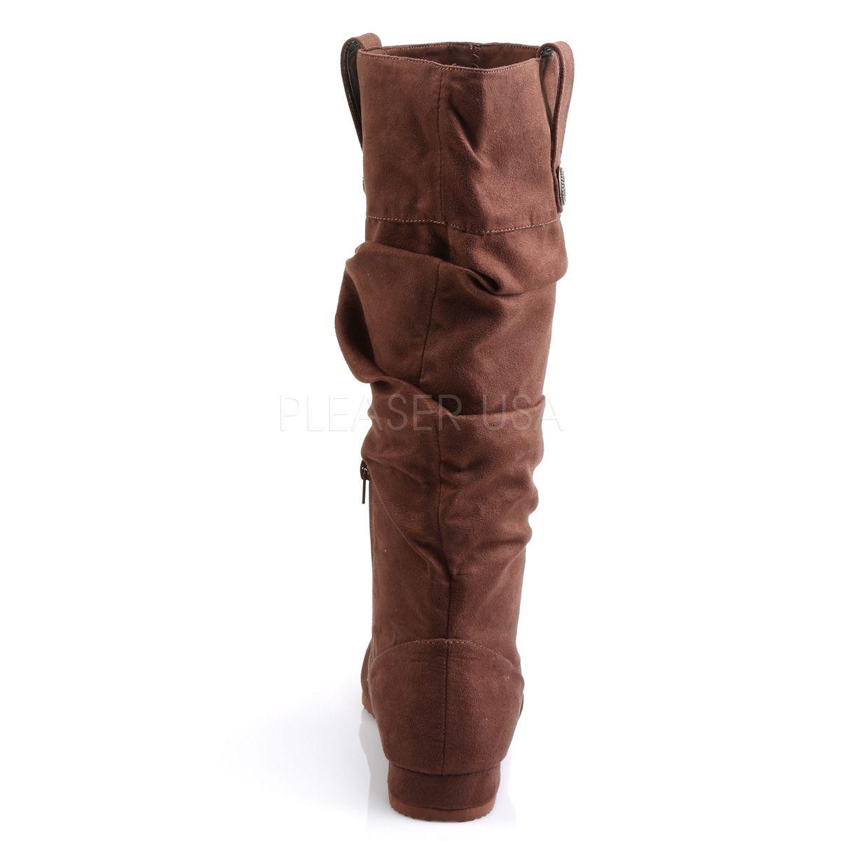 Botas planas de nobuk para hombre plisadas para disfraz de epoca