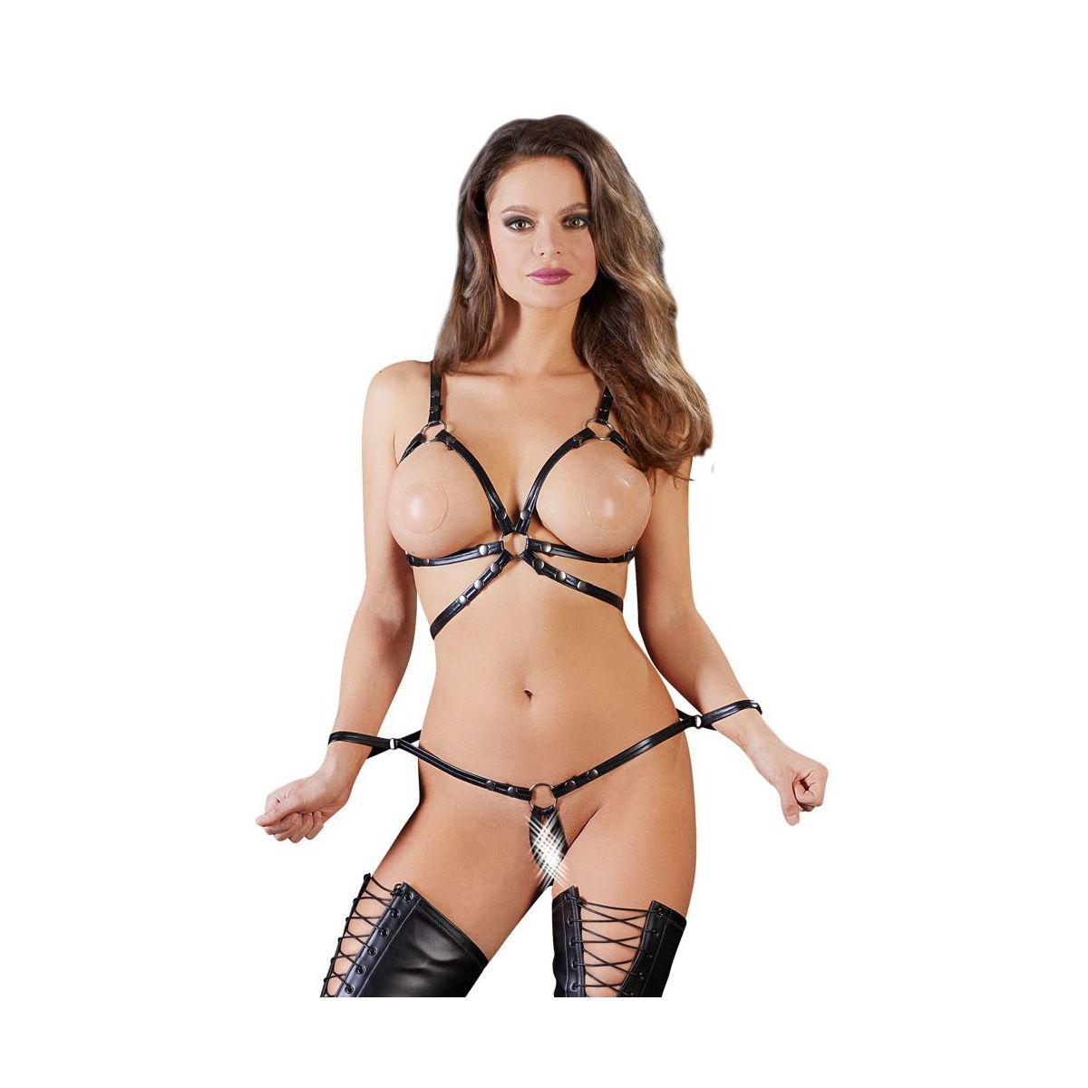 Conjunto de lencería erótica a base de correas para juegos Bondage y BDSM