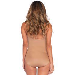 Body de una pieza en tejido elástico opaco ideal para prenda interior