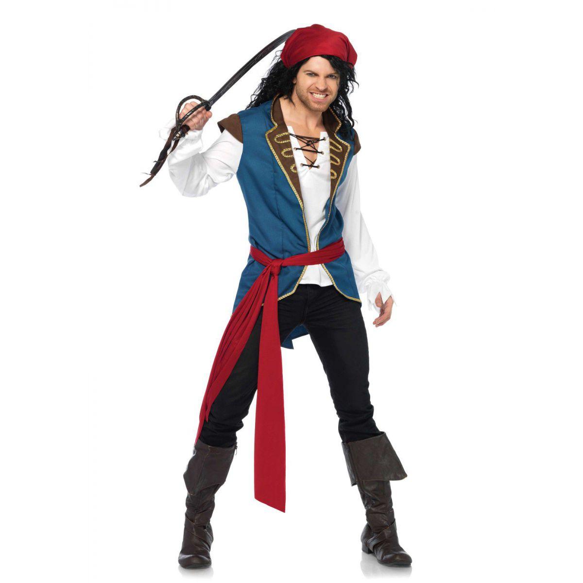 Disfraz carnaval para hombre 3 piezas de Leg Avenue de pirata atractivo