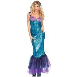 Disfraz Leg Avenue de elegante sirena del mar para carnaval