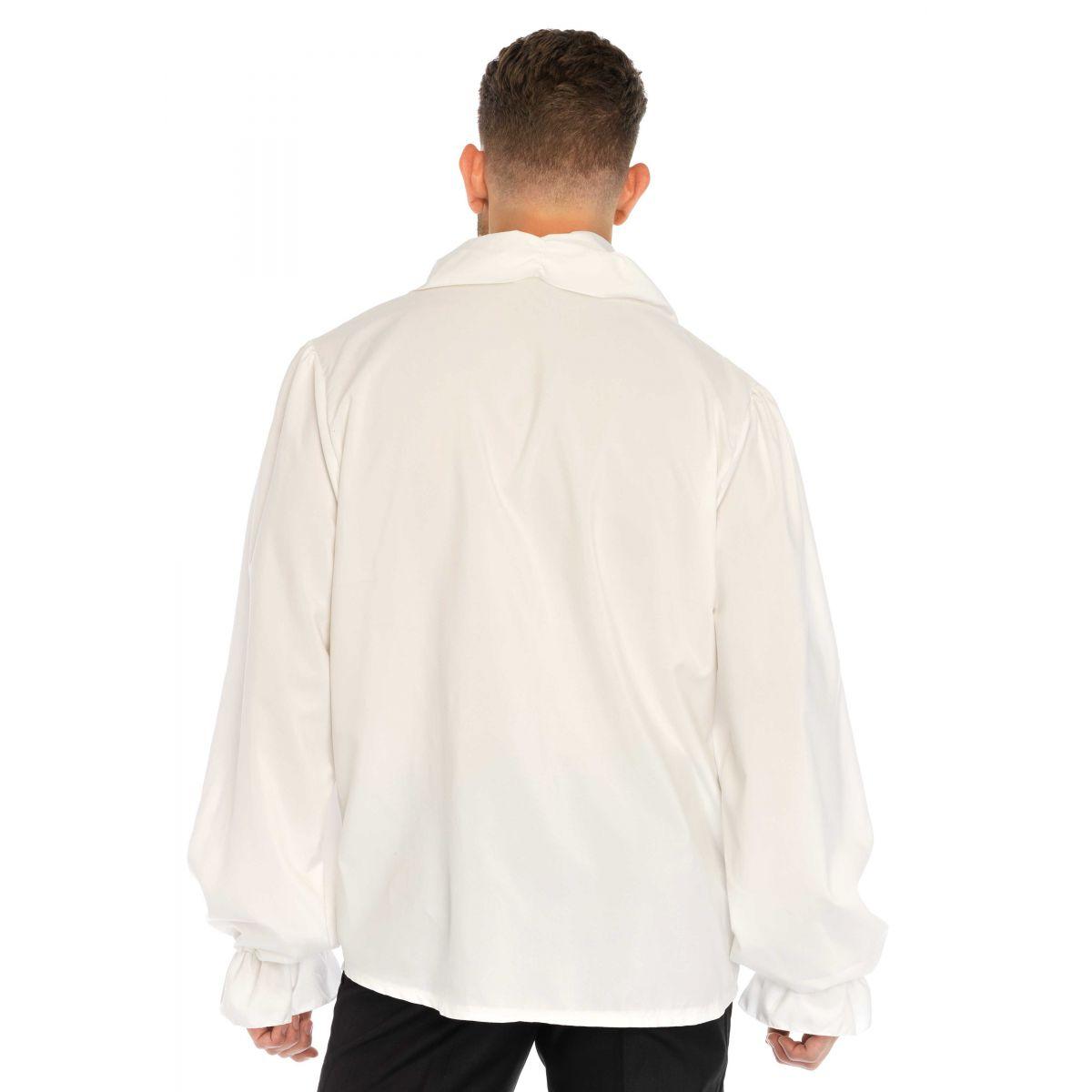 Leg Avenue Disfraz masculino camisa de época con volantes al frente