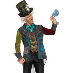 Disfraz masculino Leg Avenue de sombrerero loco lujoso de 3 piezas