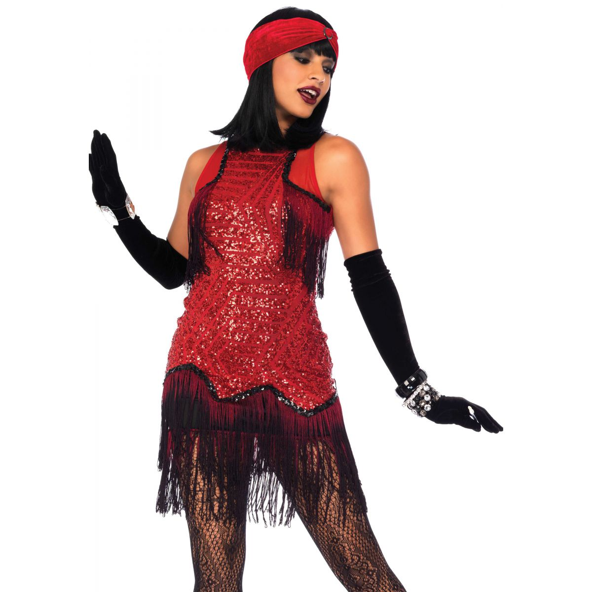 Leg Avenue disfraz de época chica Gatsby de los años 20 con lentejuelas