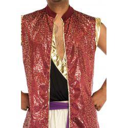 Disfraz masculino de principe Aladino de 2 piezas