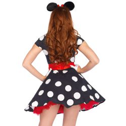 Disfraz carnaval de ratoncita Minnie Mouse de 3 pcs Leg Avenue Luxury