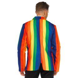 Disfraz masculino carnaval Chaqueta y corbata multicolor Leg Avenue