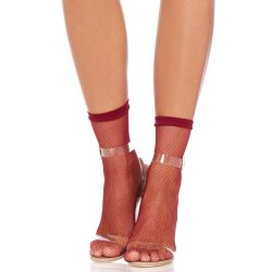 Calcetines cortos Leg Avenue de fina redecilla transparente y elásticos