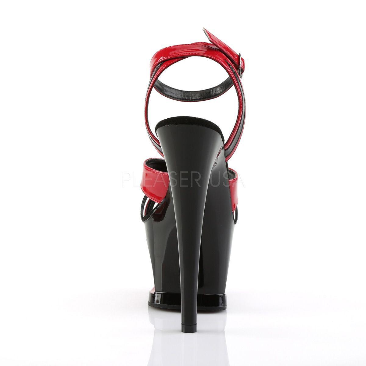 Sandalias Pleaser de Pole Dance en 2 tonos y plataforma de media luna 557234843bca