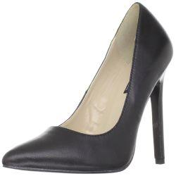 Zapato retro en piel con barquilla clásica