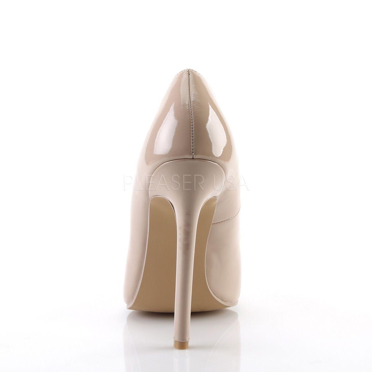Zapatos estilo clásico y tacón alto en charol brillante talla 35 a 46