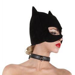 Máscara con orejas y ojos de gato