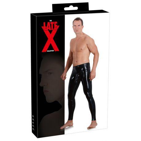 Leggings masculino de látex con funda para el pene