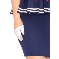 Leg Avenue disfraz sexy de ¡Ay ay marinera! compuesto por 4 piezas