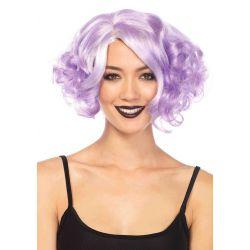 Leg Avenue Peluca de fantasía de pelo corto y rizado en tonos pastel
