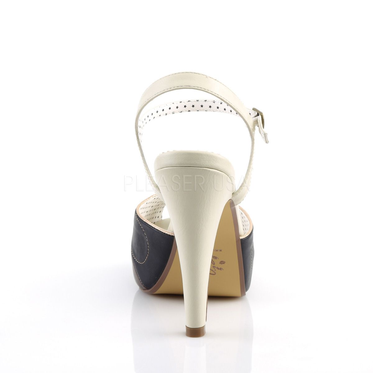 Sandalias americanas de estilo Pin Up multicolor y puntera abierta