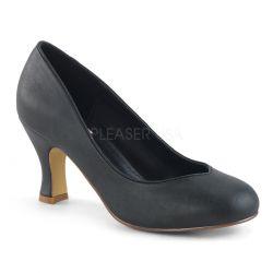 Zapatos diseño Pin Up Couture de tacón bajo en polipiel