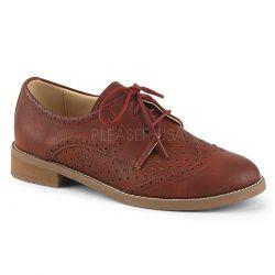 Zapatos para mujer colección Pin Up de diseño masculino estilo Oxford