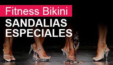 Sandalias especiales para competiciones de Fitness Bikini